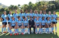 The NSW Blues official team photo at Coffs Harbour's Novotel Pacific Bay Resort.