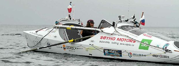 OARSOME EFFORT: Russian adventurer Fedor Konyukhov is expected to make landfall at Mooloolaba next Thursday or Friday.