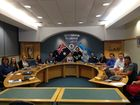 ALTERNATIVE VIEWS: The Gladstone Region Youth Council forms for its inaugural meeting in the Gladstone Regional Council boardroom on Monday night.