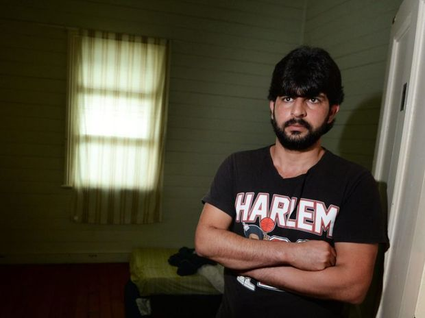 Kurdish refugee Ali Palavaneh is caught in an immigration nightmare where he has no state to return to but his bridging visa has been revoked and the Department of Immigration has ordered him to return to his home country. Photo: Chris Ison / The Morning Bulletin