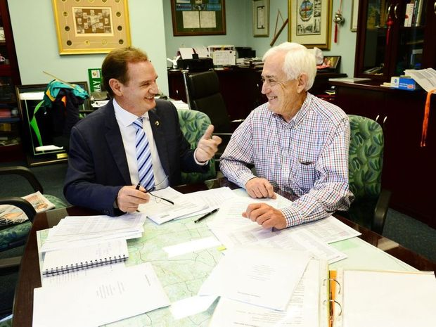 SUPPORTER: Dan Gorman discusses the Forward Ipswich fund at Mayor Paul Pisasale's office.