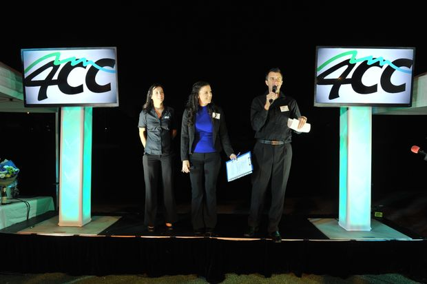 Announcer Clare Wootton, station manager Sally Waghorn and announcer Rob Kidd announce that Zinc Radio is turning back time to rebrand into the original 4CC.