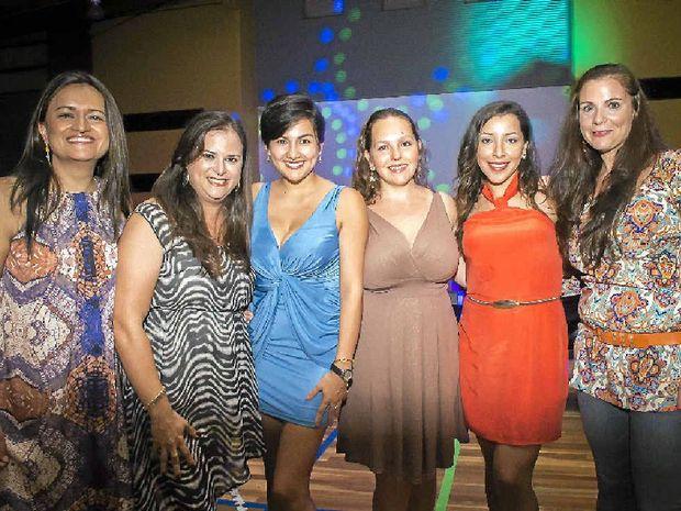 LATINO EVENING: Diana Vargas, Paola Herrera, Alejandra Nunn, Gabriela Beatosn, Laura Garcia and Carolina Maycock during the Latin Caribbean Night at the Gladstone PCYC.