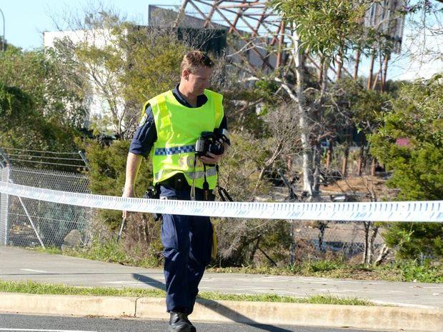 Shooting crime scene in Tweed Heads West.
