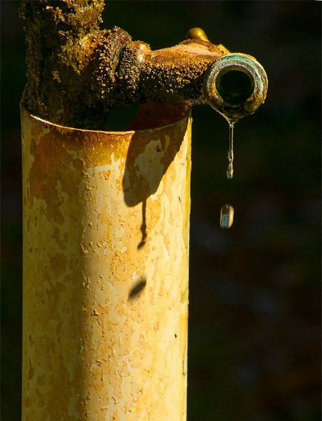 Fran Cross's winning photo of a tap dripping bore water.