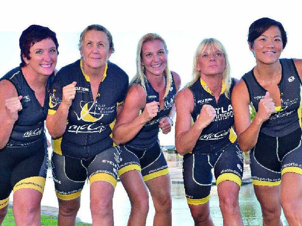 ENERGY TO BURN: Ruth D'Hennin, Janeene Mansey, Paula Free, Gaye Ottogalli and Vanessa Ng are making the trek to Cairns to compete in their first Ironman event.