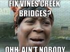 Vines Creek Bridges fiasco has become the joke of Mackay