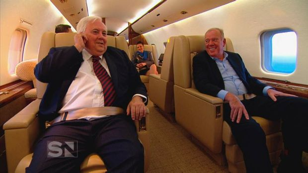 WILD RIDE: Clive Palmer and Mike Willesee