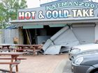 Car slams into takeaway shop in Pialba