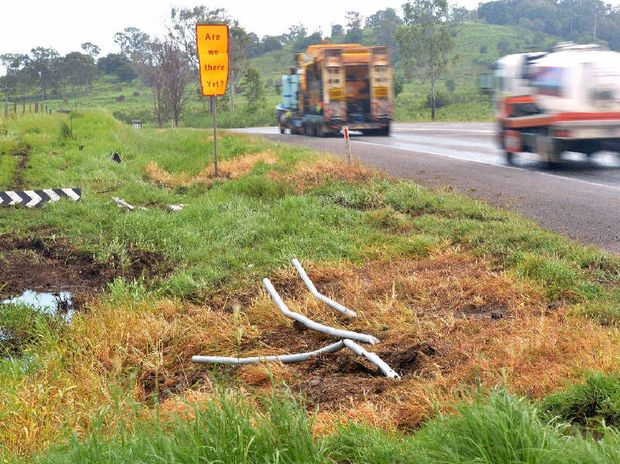 "The Department of Transport and Main Roads is completing roadworks and has installed ""high crash zone"" signs at Eversleigh Rd intersection on the Bruce Hwy."