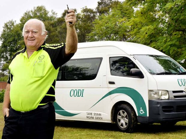 DRIVER'S SEAT: CODI driver Bob Windle will continue to be able to help transport residents to hospital thanks to a fundaraiser held this weekend.