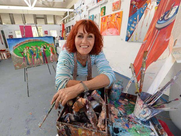 ARCHIBALD ENTRY: Aratula artist Suzy Buhle.