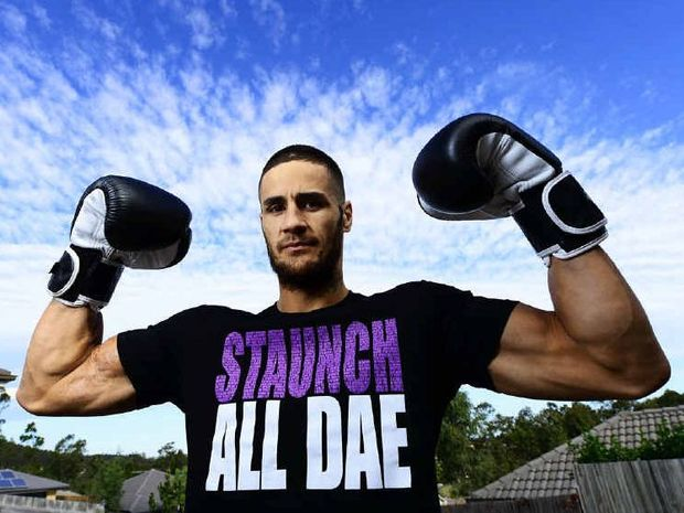 PUMPED: Dane Mulivai of Redbank Plains is in peak condition for tonight's national super-middleweight title fight with Jake Carr in Melbourne.
