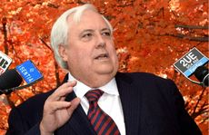 "ON THE OFFENSIVE: Clive Palmer says the government has manufactured a ""so-called debt crisis'' for its own ends."