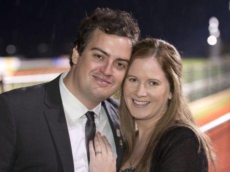 Newlyweds Dean and Shai Border.