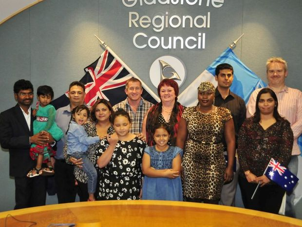 Gladstone residents became Australian citizens in a special ceremony at the Gladstone regional Council chambers on Wednesday.
