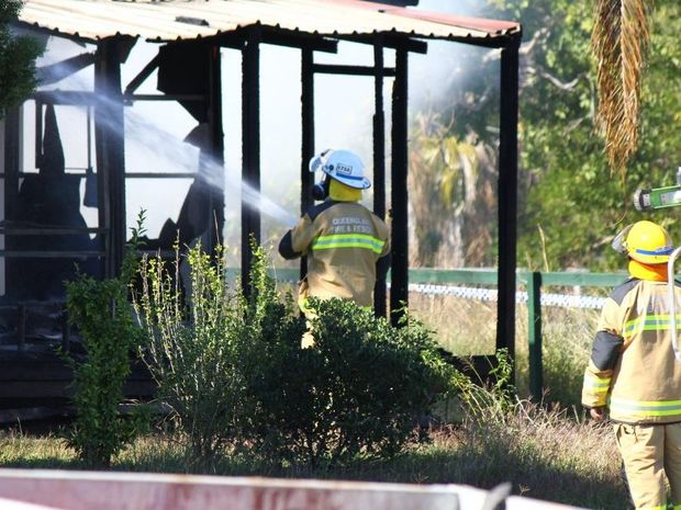Two people were taken to hospital following a house fire at Laidley this morning.