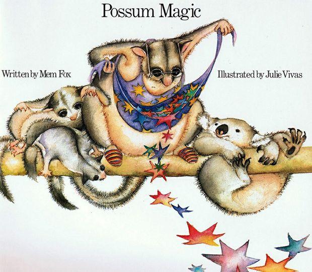 The cover of Mem Fox's classic children's book, Possum Magic.