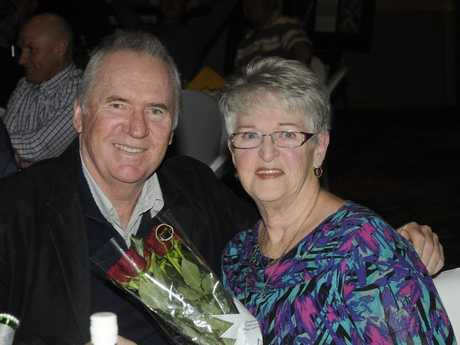 Robyn Meara was seated next to her sporting hero, cricketer Alan Border.