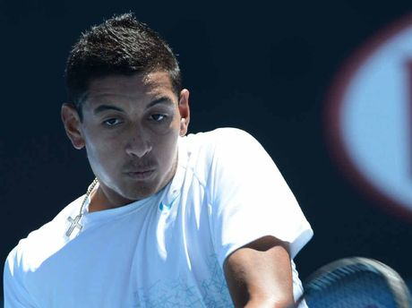 AUSSIE HOPEFUL: Nick Kyrgios, of Australia, in action.