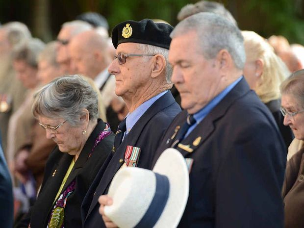 FALLEN REMEMBERED: People at the commemoration service pause for the minute's silence to reflect on the fallen.