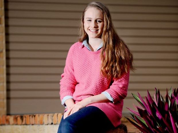 Hannah Taylor talks about fashion and style for teenage girls. Photo Allan Reinikka / The Morning Bulletin