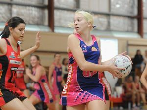 Netball - Thundercats V.Brisbane Norths Cougars. Thundercats goal shooter McKenzie Mott. Photo: Alistair Brightman / Fraser Coast Chronicle