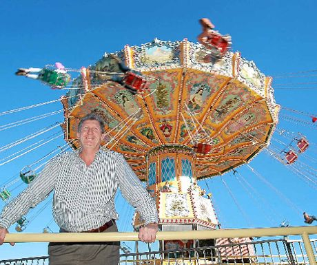 SUCCESS STORY: Aussie World general manager, David Thompson, at their newest ride, the Ballroom Blitz.