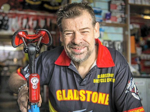 CYCLISTS FEELING SAFER: Gladstone Bicycle Centre owner Dave McIntosh shows off a Fly 6 high-definition camera.