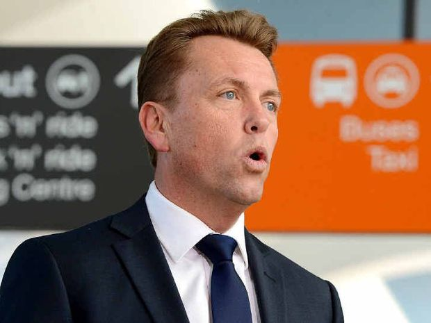 DECLARED OPEN: Transport Minister Scott Emerson at the Springfield Central train station to mark the completion of the Richlands to Springfield project.