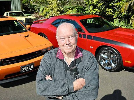 SHARING THE JOY: Car enthusiast Ken Blakemore is selling one of his two Dodge Challengers.