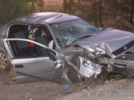 The vehicle involved in yesterday's fatal crash near Chinchilla.