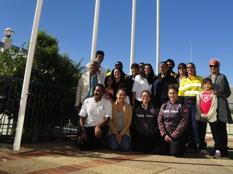 NAIDOC WEEK BEGINS: Community enjoys flag raising ceremony, Gladstone Regional Council, on Monday.