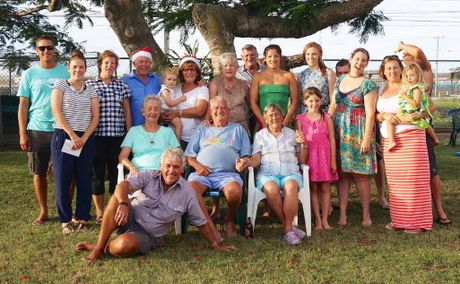 Bill Bowtell (centre) surrounded by his large family last Christmas.