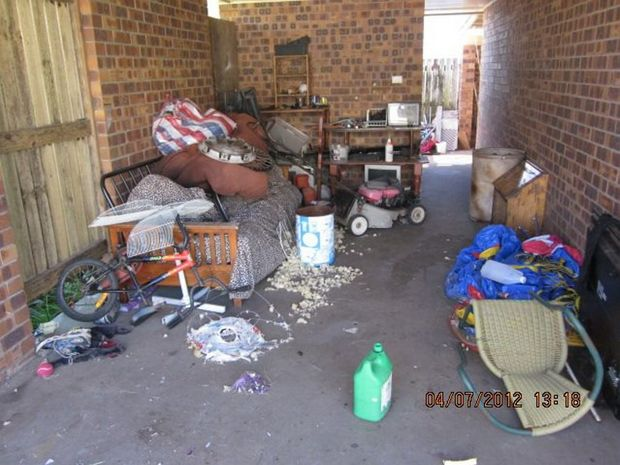 HORROR TENANTS: Examples of damage caused to public housing in the Bundaberg region. Photo: contributed