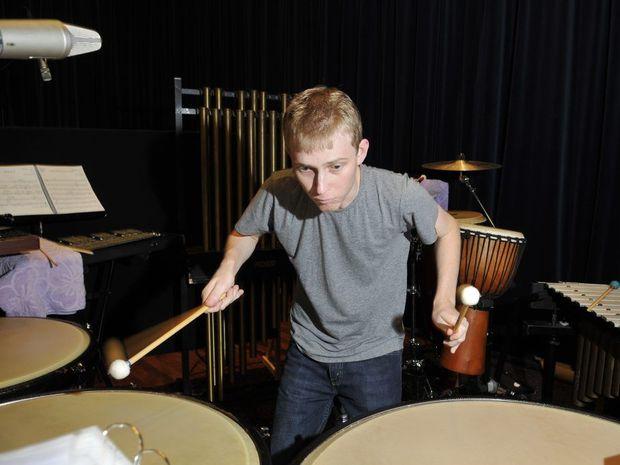 Percussionist Jamie Nuss.