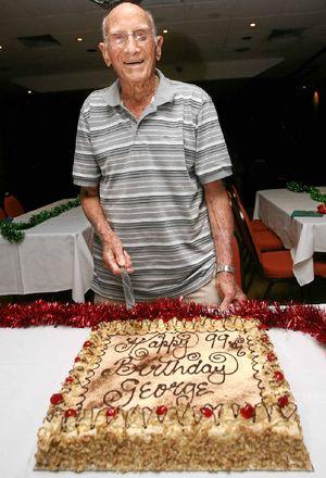 DECEMBER 2010: George Burtenshaw on his 99th birthday.