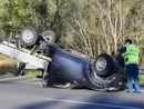 Ute rolls on Cunningham Highway