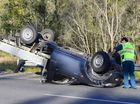 A ute rolled on the Cunningham Highway at New Chum on Saturday afternoon