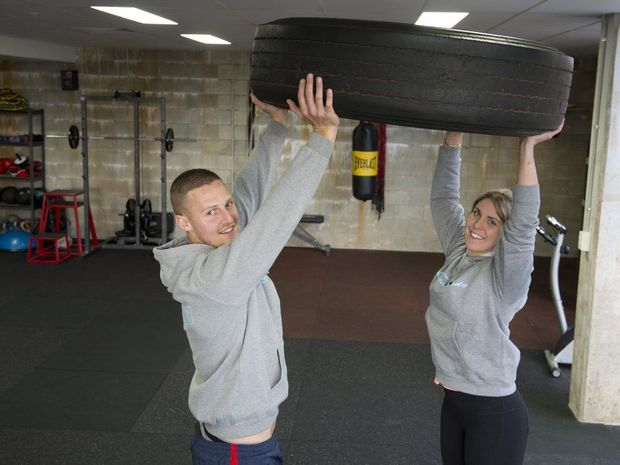 Ben Loxley and Tori Smith of Complete Body Yoga and Fitness gym prepare for brutal mud race Tough Mudder.