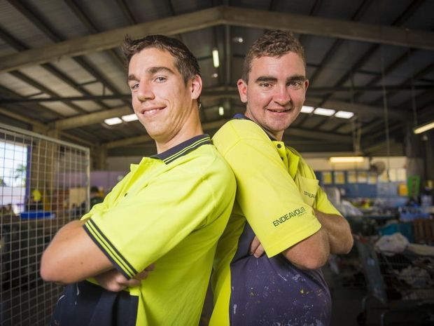 Adam Knust and Kerrod Hamilton will compete for Queensland in the National Special Olympics.