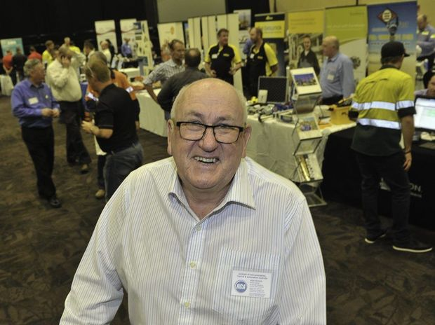 Institute of Instrumentation Control and Automation general manager Alan Nichols at the IICA Technology Expo at the Gladstone Entertainment Convention Centre.