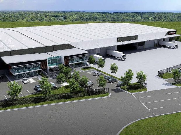 HEADING NORTH: An artist's impression of the Northline transport and logistics facility being built at Redbank Motorway Estate.
