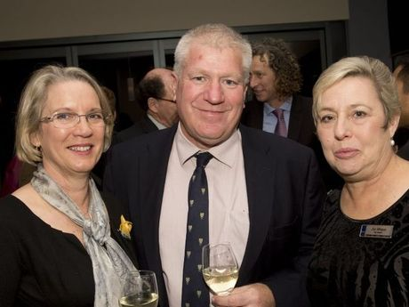 Lynda Burke, Col David Burke and Joy Mingay.