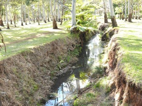 AFTER: The creek banks have been slashed back by Toowoomba Regional Council.