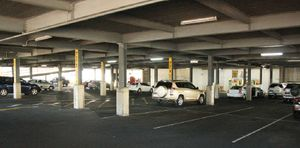 FILL ME UP: Empty Kern Arcade car parks wait patiently to have their spaces filled.