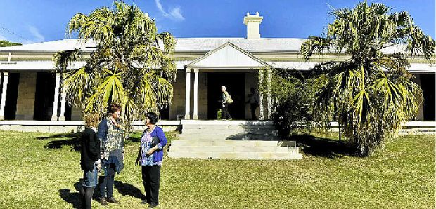 OPEN TO ALL: Visitors stand outside Claremont hertiage home.
