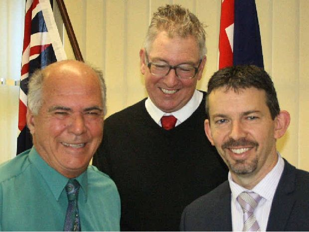 PASSED: Livingstone Mayor Bill Ludwig, deputy Mayor Graham Scott and CEO Justin Commons.