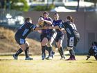 Raidette's Patrisha Pengelli during the Raidettes vs East Bundaberg match at Marley Brown Oval, Gladstone.