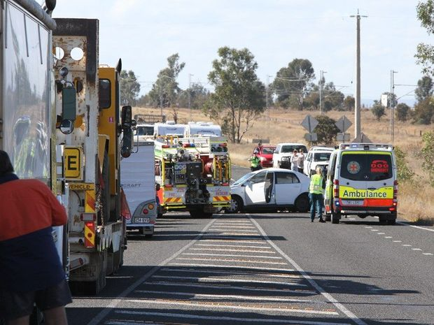 Scene of fatal crash at Yamala on the Capricorn Highway, 20kms east of Emerald.
